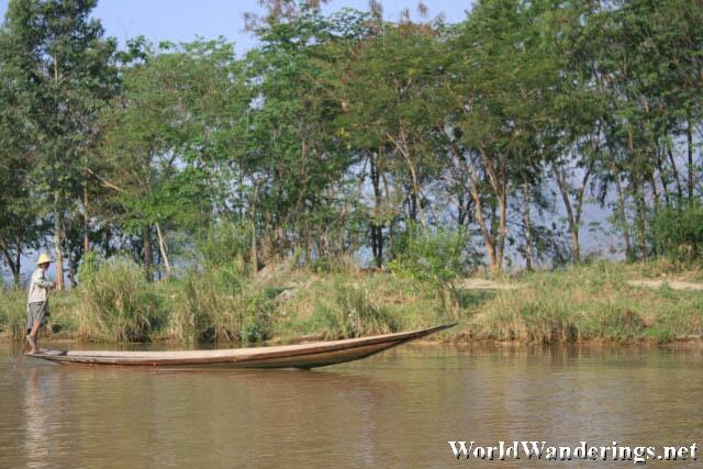 Boat Heading Back to Nyaungshwe