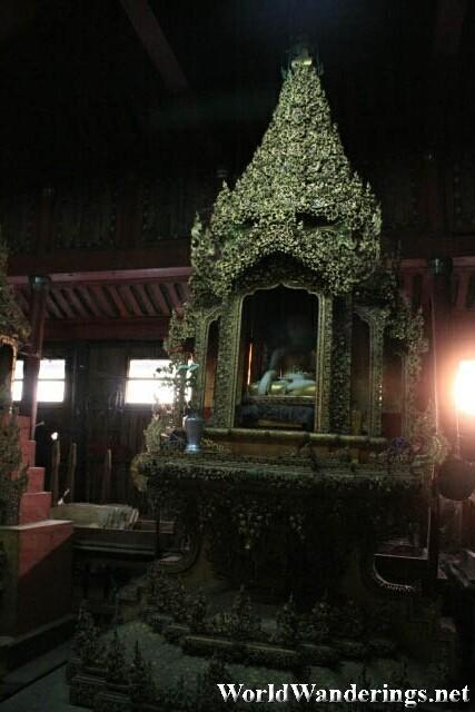 Unlit But Intricate Buddha Shrine