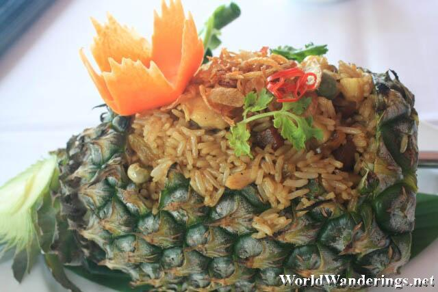 Pineapple Rice at Baan Rim Pa Restaurant