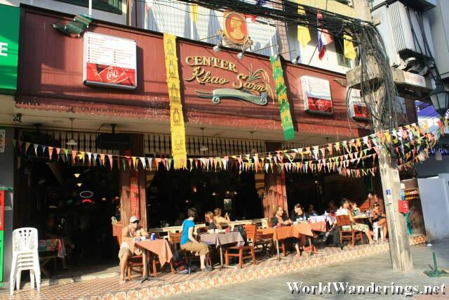Fancy Restaurant Along Khao San Road
