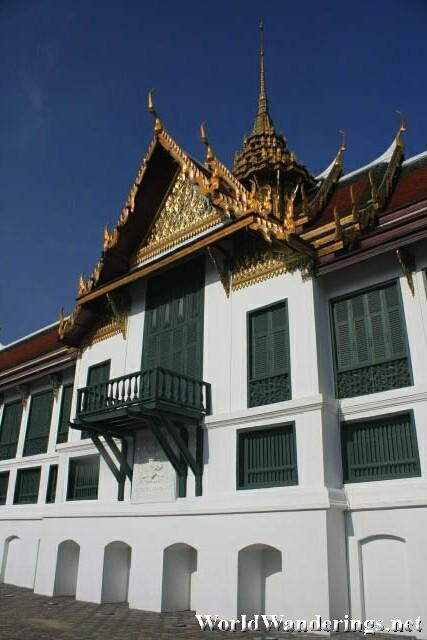 One of the Buildings in the Grand Palace From the Outside