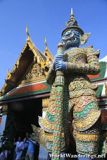 A Look Back at the Main Entrance of the Grand Palace