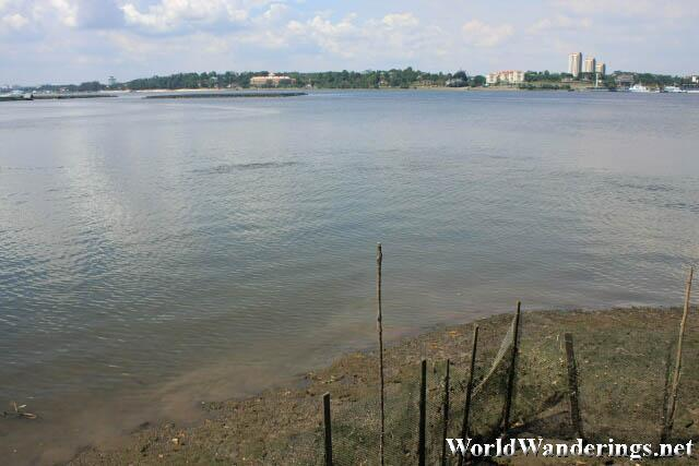 View of Malaysian Johor from the Sungei Buloh Wetland Reserve