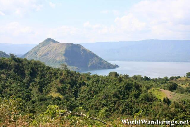 Amazing View of Taal Lake from Volcano