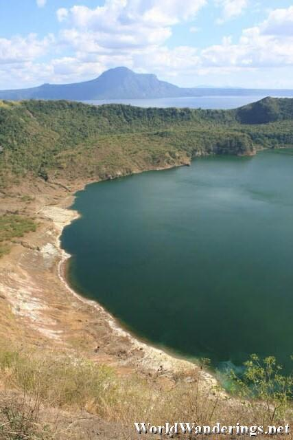 Crater Lake on From the Top of Taal Volcano