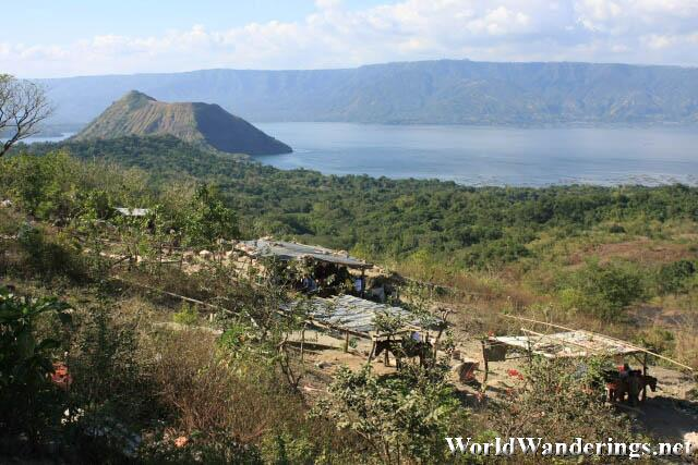 View of Taal Lake From the Crater