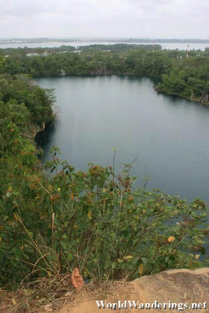 View of Ubin Quarry from the Top