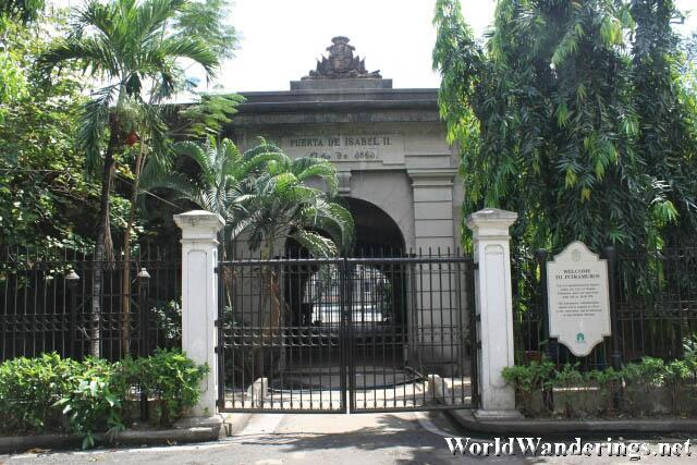 Puerta de Isabel II at Intramuros