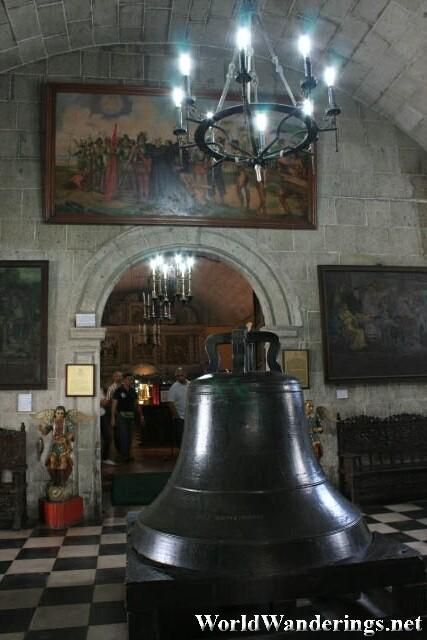 Large Bell at the Entrance of San Agustin Museum