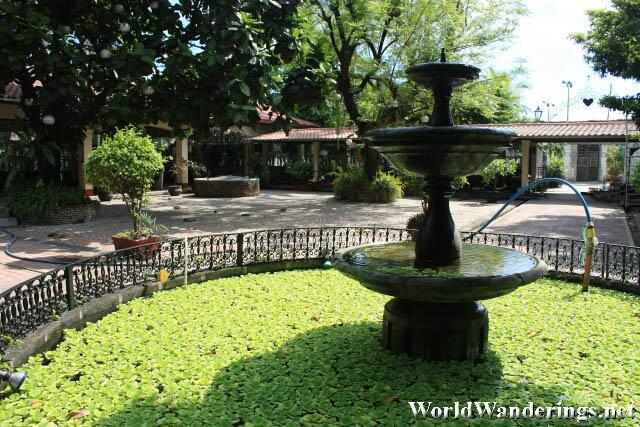 Fountain at Fr. Blanco's Garden