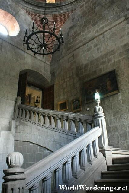 Atmospheric Staircase in the San Agustin Museum