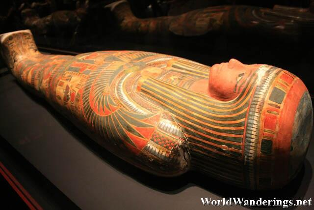 Sarcophagus with a Mummy in the Quest for Immortality