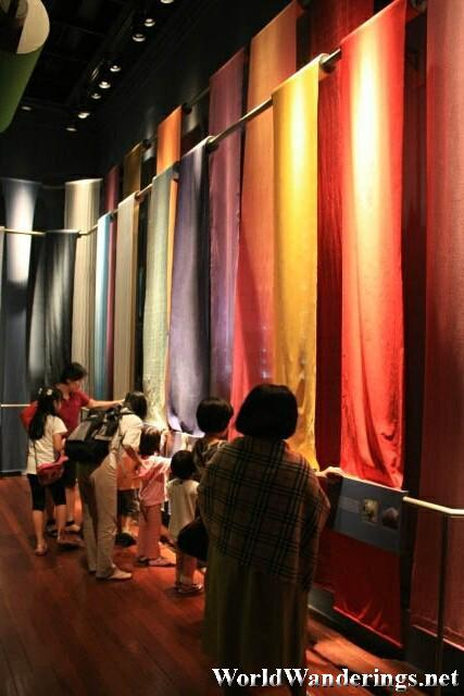 Colorful Fabric on Display at the Singapore Living Galleries - Fashion