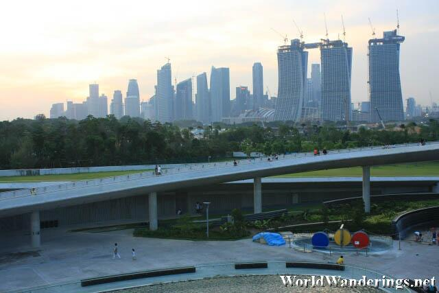 Great View of the Central Business District from the Marina Barrage