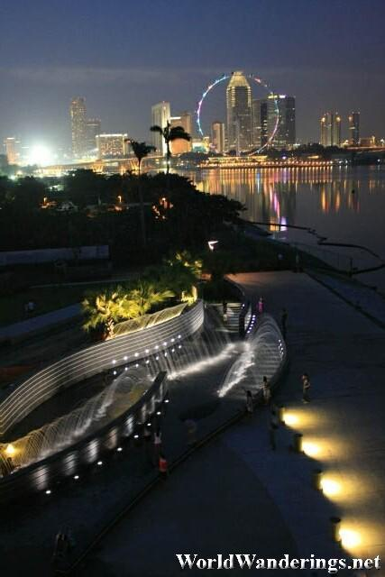 Suntec Area and the Singapore Flyer from Marina Barrage