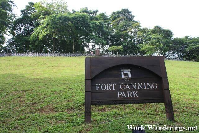 View of Fort Canning Hill