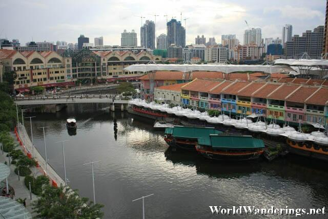 View of the Singapore River and Clark Quay