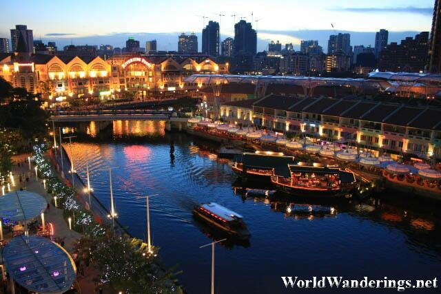 Clark Quay Right After Sunset