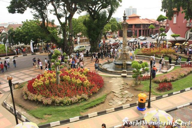 Melaka Town Square Filled with People