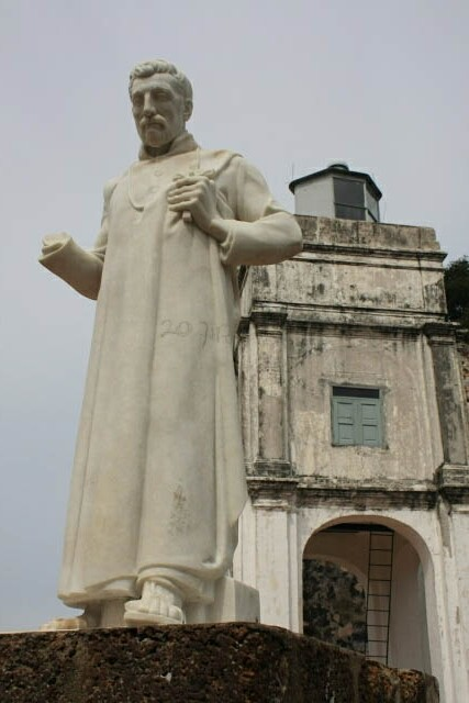 Statue of St. Francis Xavier in Front of the Church of St. Paul
