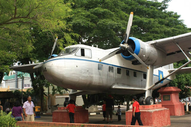 Vintage Airplane at the Melaka Transportation Museum