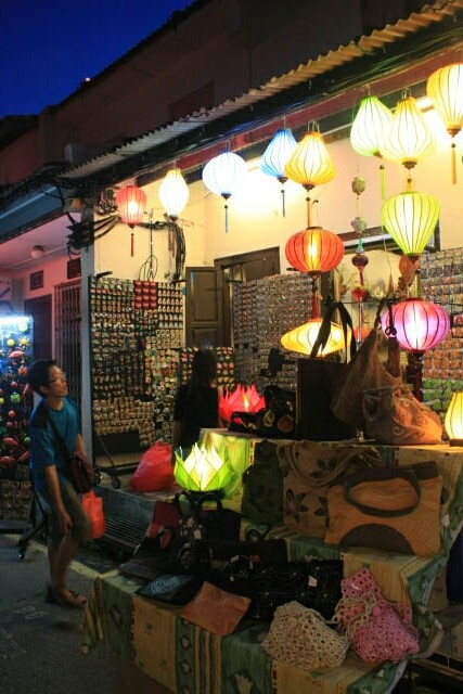 Brightly Lit Shop at Melaka