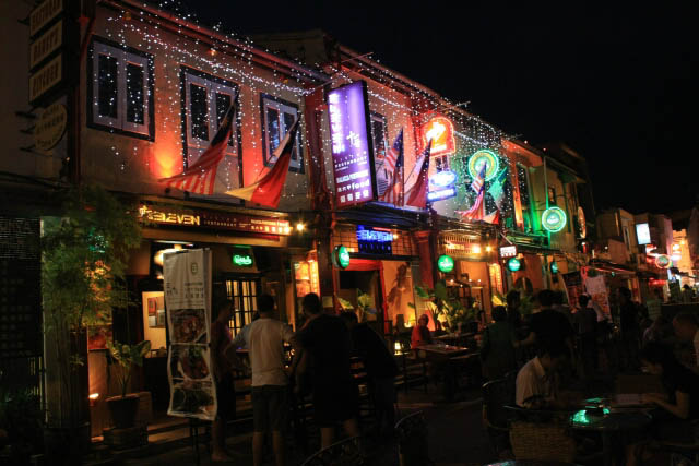 Row of Restaurants in Melaka