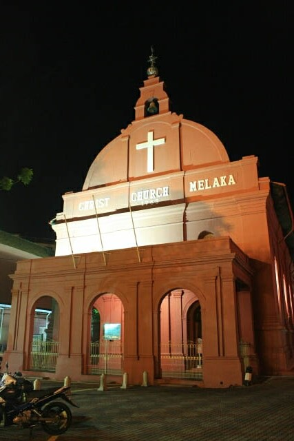 Quiet Christ Church at Melaka
