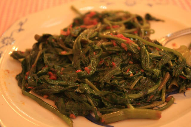 Spicy Kangkong at Restoran Peranakan