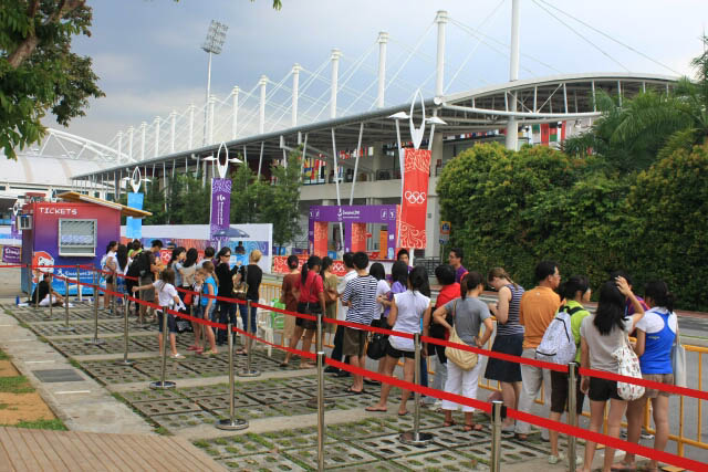 Queue Outside the Youth Olympic Venue