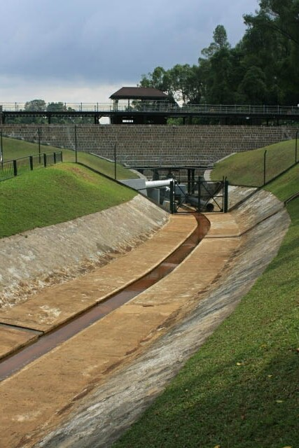 View of the Spillway at McRitchie Reservoir