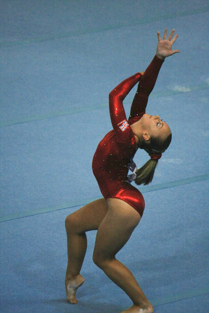 Jessica Hogg of Great Britain in Her Floor Exercises Routine