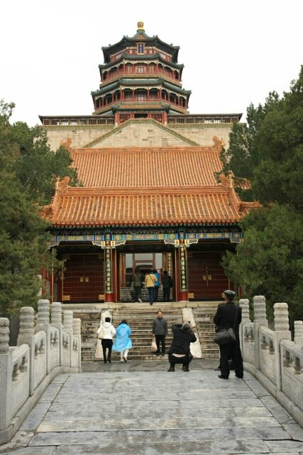 Looking Back at the Tower of Buddhist Incense 佛香阁