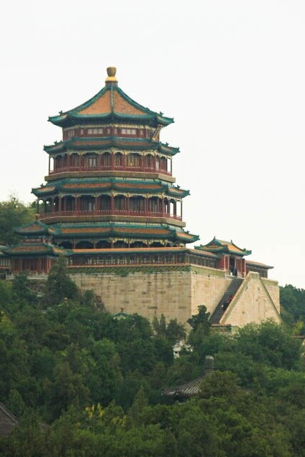 Elegant Tower of Buddhist Incense Soars About Wanshou Hill