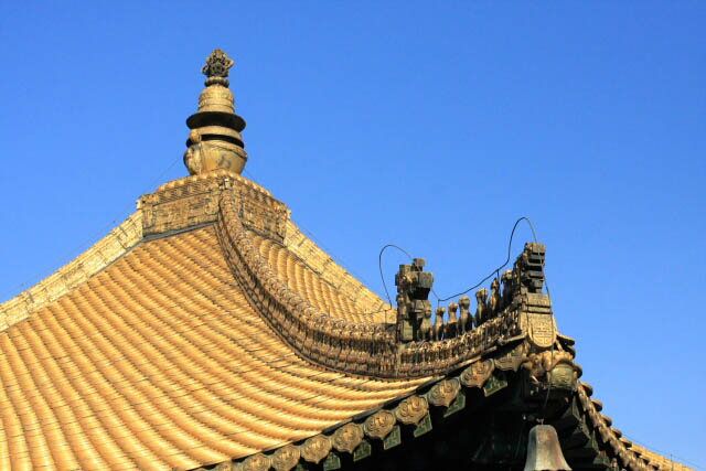 Detail on the Roof of the Wanfaguiyi Hall 万发归一