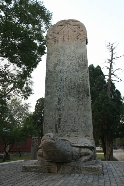 Stele on a Tortoise at the Dai Temple 岱庙