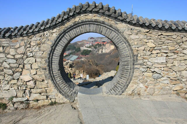 Interestingly Shaped Entrance at Mount Tai 泰山