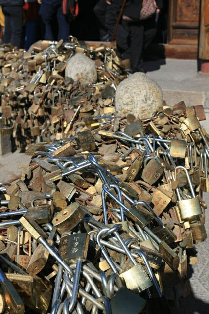 Thousands of Locks here at Mount Tai's Summit