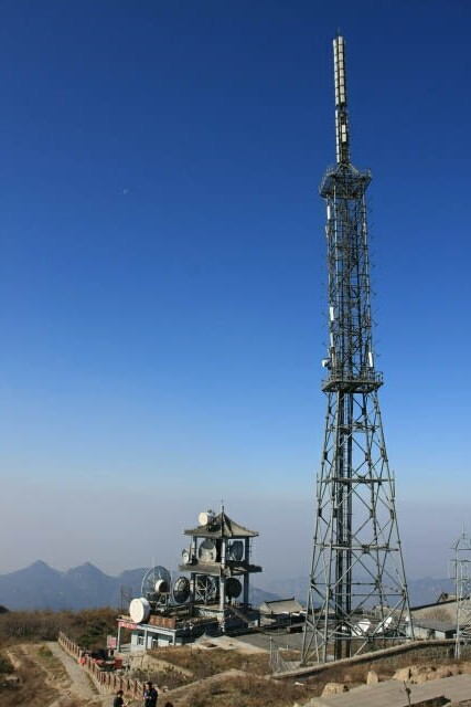 Weather Station and Tower at Mount Tai 泰山