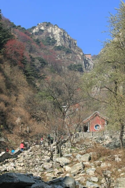 View from Somewhere Along the Stairs on the Way to Mount Tai 泰山