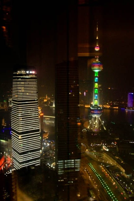 Oriental Pearl Tower from the Jinmao Tower 金茂大厦