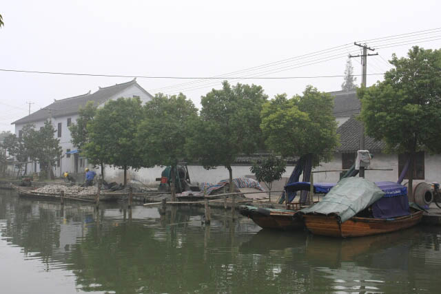 Boats By the River in Zhou Zhuang 周庄