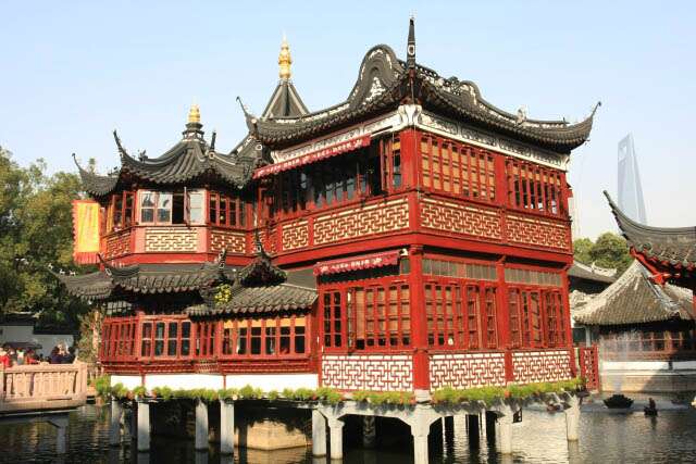 Beautiful Ming Dynasty Buildings at the Yuyuan Gardens 豫园