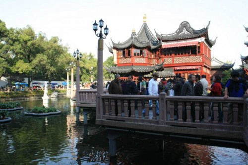 The Bridge at the Yuyuan Gardens 豫园