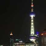 Oriental Pearl Tower at Night in Shanghai