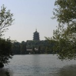 Leifeng Pagoda 雷锋塔 from West Lake 西湖