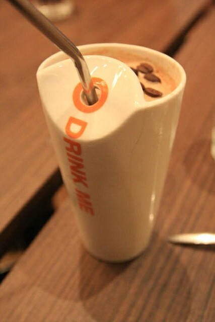 Interestingly Shaped Cup at Max Brenner