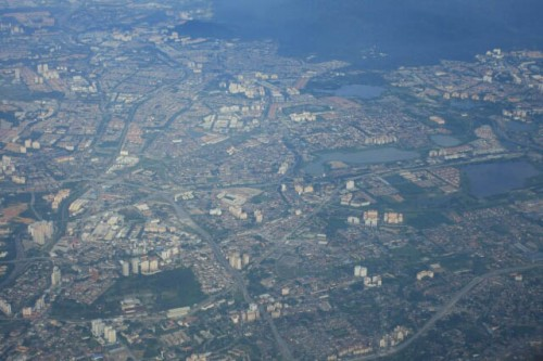 View of Kuala Lumpur from the Air