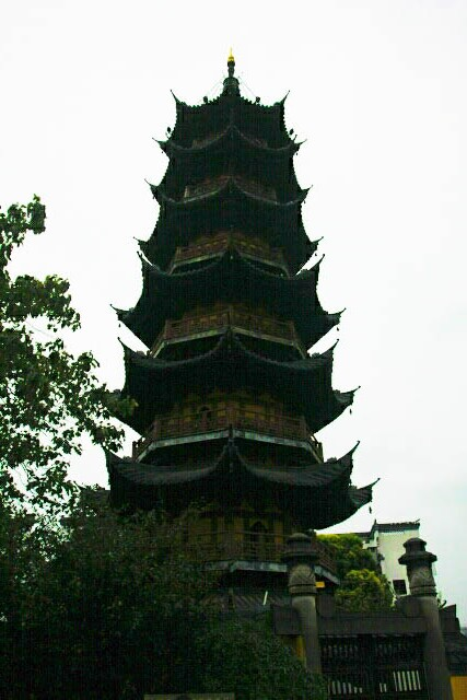 Longhua Pagoda 龙华塔 in a Rainy Day in Shanghai 上海