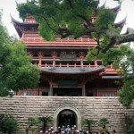 Temple Building on top of Wushan 吴山